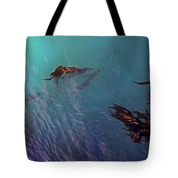 Turquoise Current And Seaweed Tote Bag