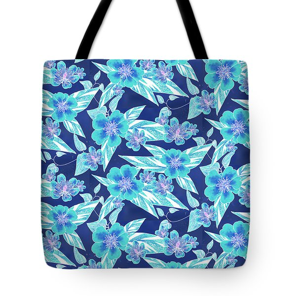 Turquoise Batik Ginger Small Tote Bag