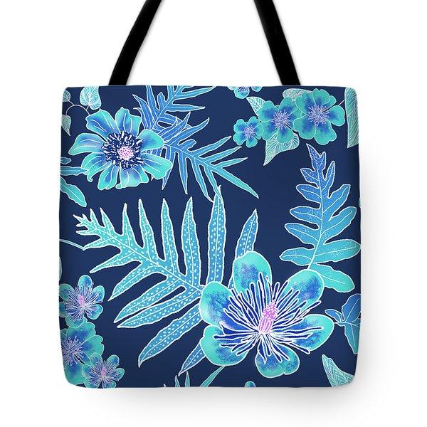 Turquoise Batik - Laua'e 12 Tote Bag