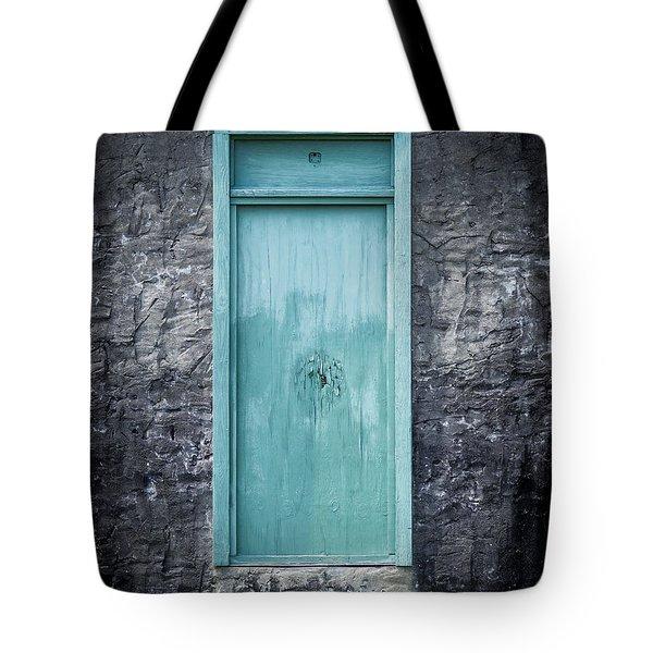 Turquoise Door Tote Bag