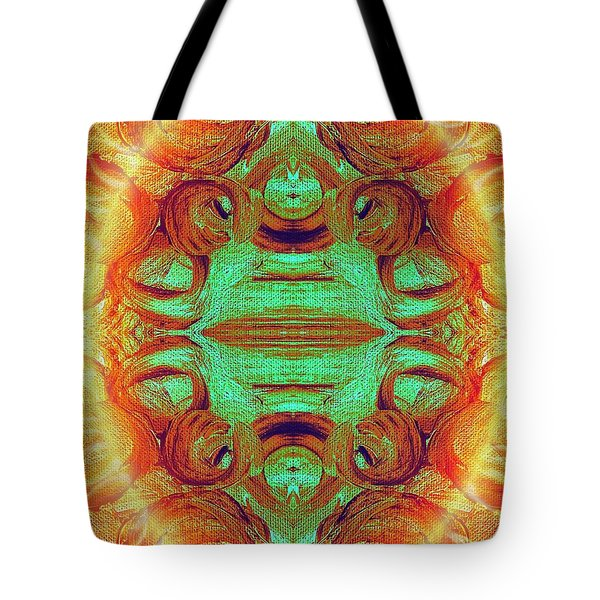 Turquoise Fire Tote Bag by Rachel Hannah