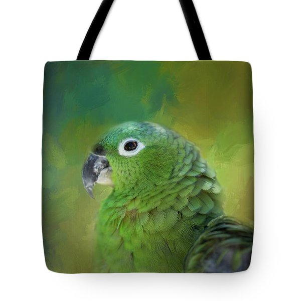 Turquoise-fronted Amazon Tote Bag