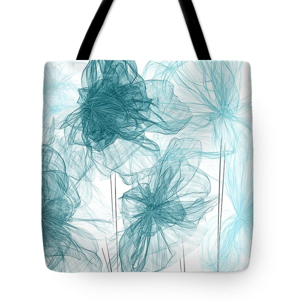Turquoise In Sync Tote Bag