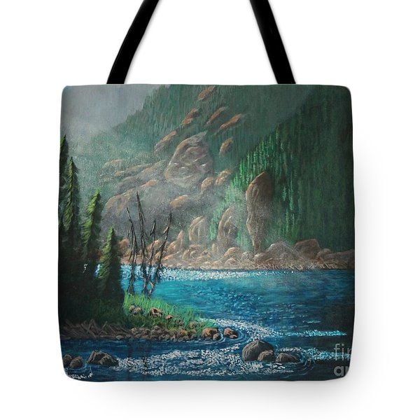 Turquoise River Tote Bag