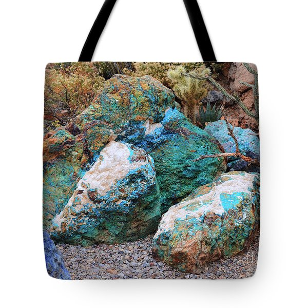 Turquoise Rocks Tote Bag
