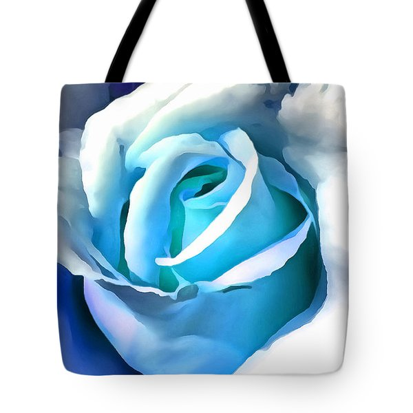 Turquoise Rose Tote Bag