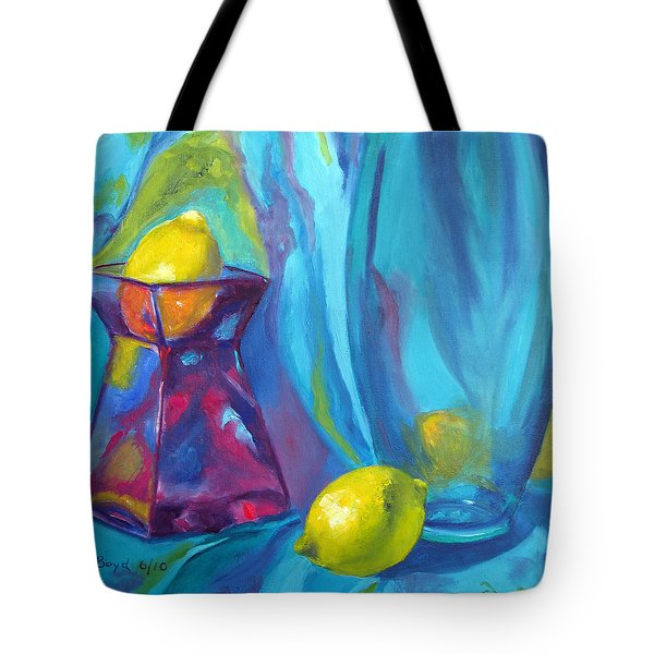 Turquoise Tote Bag by Lisa Boyd