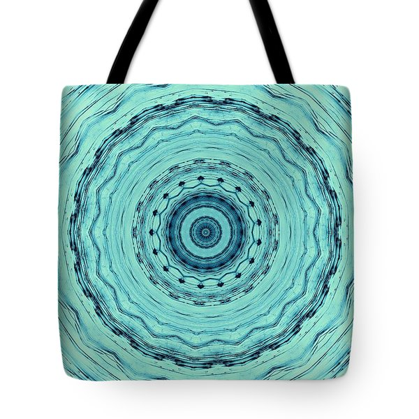 Turquoise Serenade Tote Bag by Sheila Ping