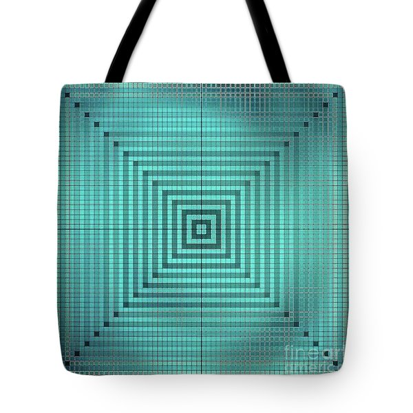 Turquoise Square Tote Bag