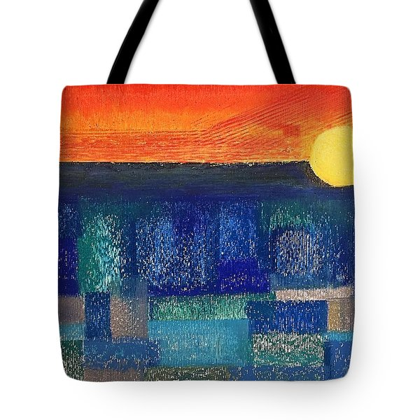 Turquoise Sunset Tote Bag
