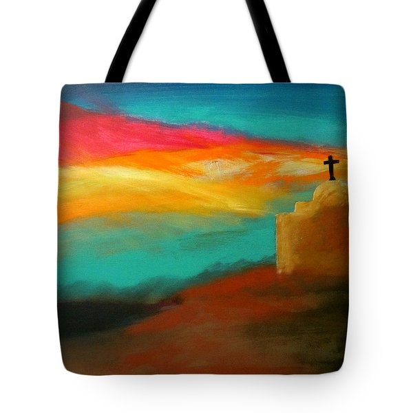 Turquoise Trail Sunset Tote Bag