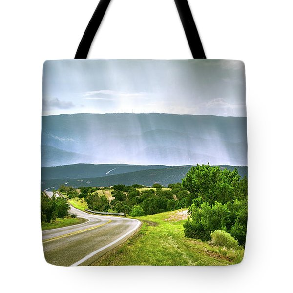 Turquoise Trail Tote Bag