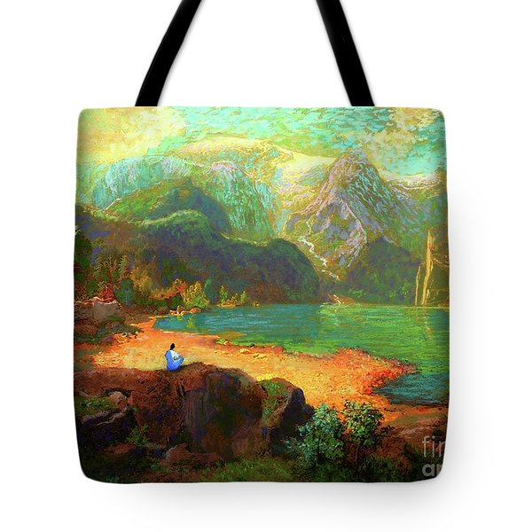 Turquoise Tranquility Meditation Tote Bag