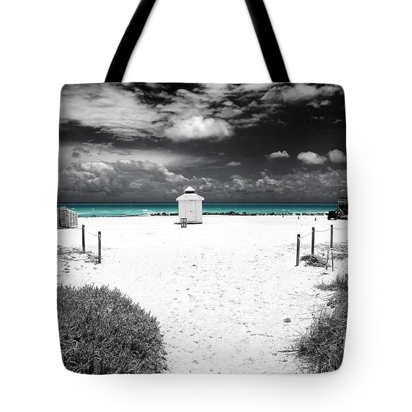 Tote Bag featuring the photograph Turquoise Water Fusion by John Rizzuto