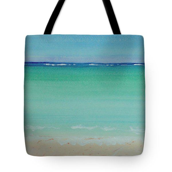 Turquoise Waters Long Abstract Tote Bag