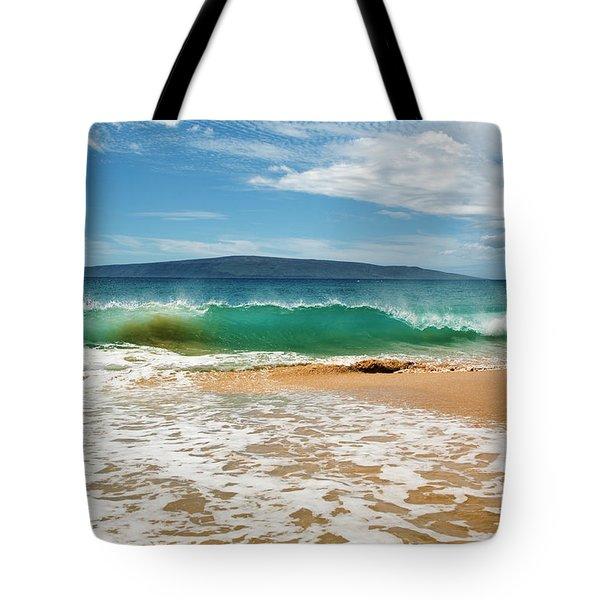 Turquoise Wave At Makena Beach Tote Bag