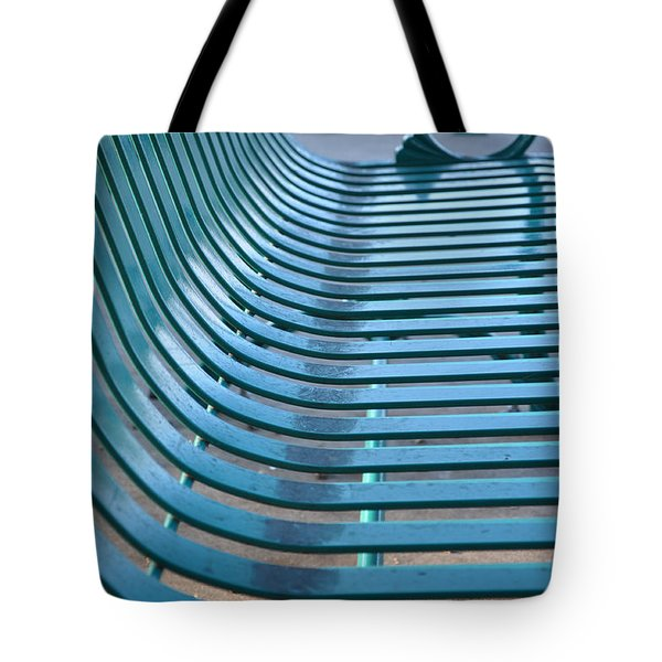 Turquoise Wave Tote Bag by Jan Amiss Photography