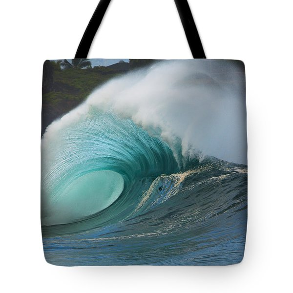 Turquoise Wave Peak Tote Bag by Dana Edmunds - Printscapes