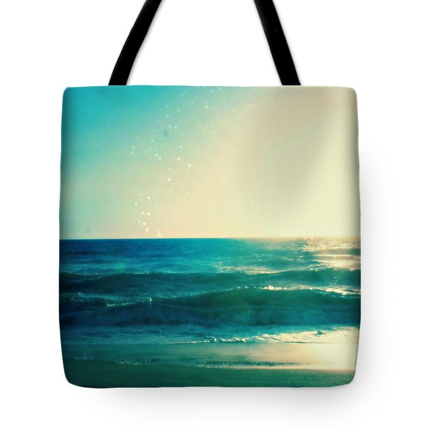 Turquoise Waves Tote Bag