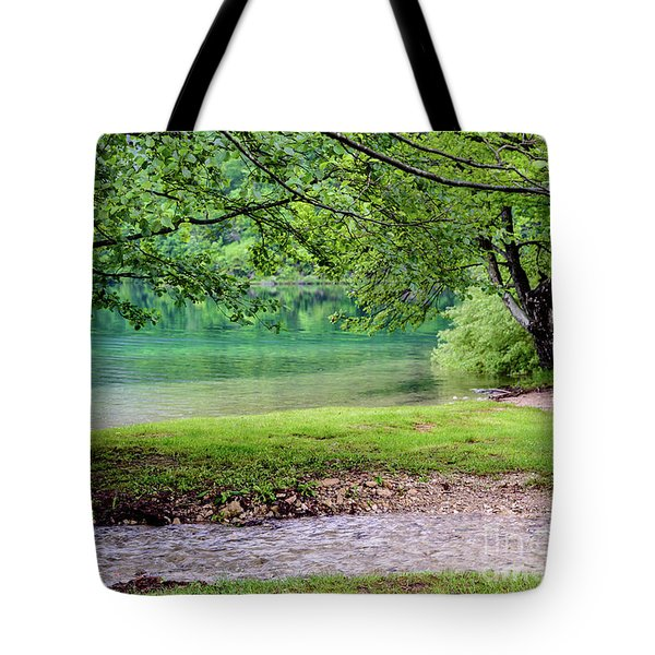 Turquoise Zen - Plitvice Lakes National Park, Croatia Tote Bag