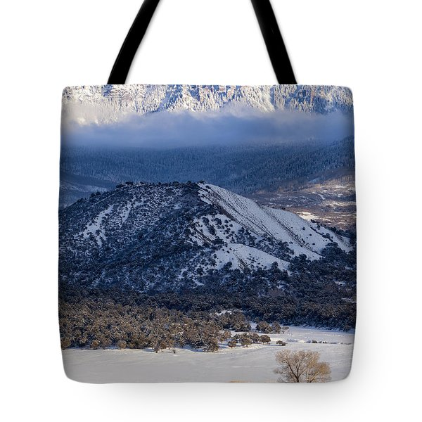 Turret Ridge In Winter Tote Bag