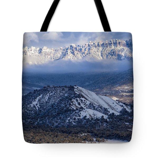 Turret Ridge In Winter Tote Bag