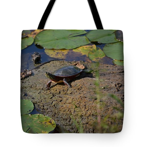 Turtle And Lily's Tote Bag