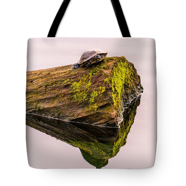 Turtle Basking Tote Bag