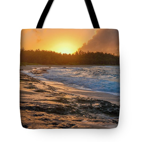 Turtle Bay Sunset 3 Tote Bag