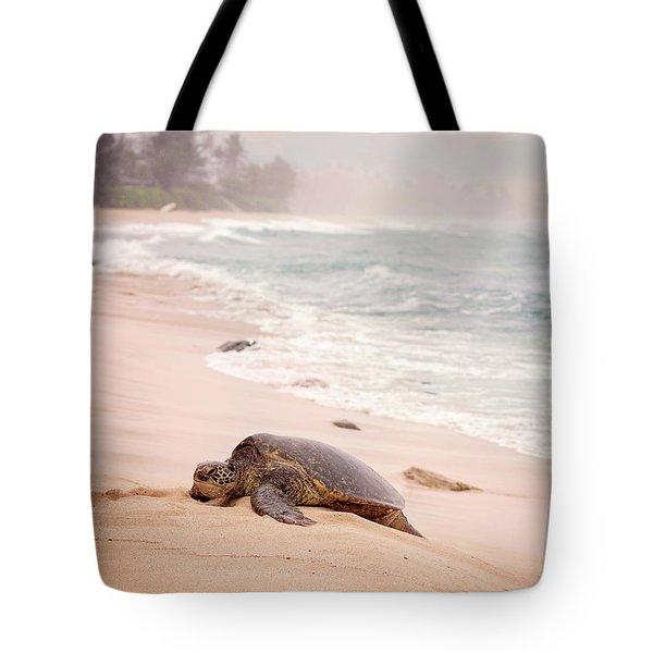 Turtle Beach Tote Bag by Heather Applegate