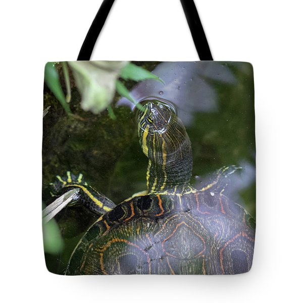 Turtle Getting Some Air Tote Bag