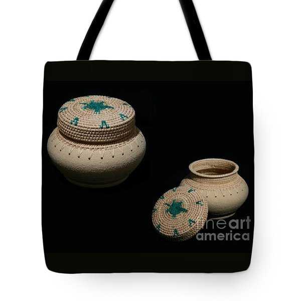 Turtle In The Pond Clay Basket Tote Bag by Darlene Ryer