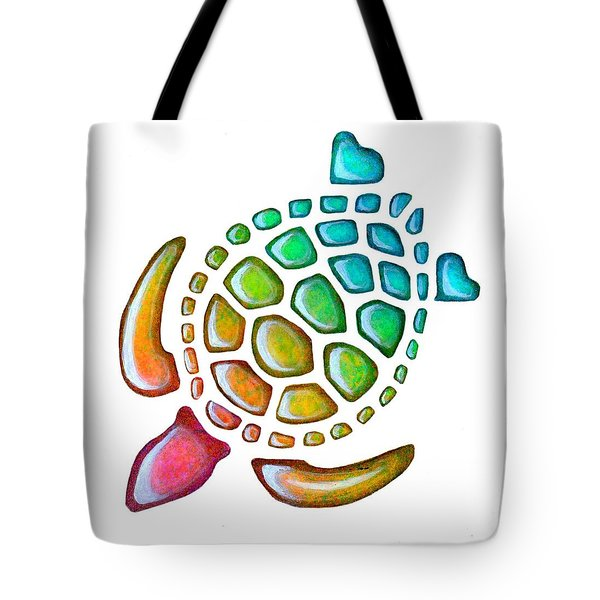 Turtle Pebbles Tote Bag