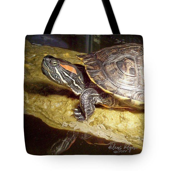 Tote Bag featuring the digital art Turtle Reflections by Deleas Kilgore