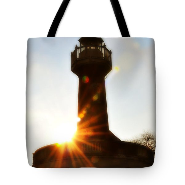 Turtle Rock Light House Tote Bag by Bill Cannon