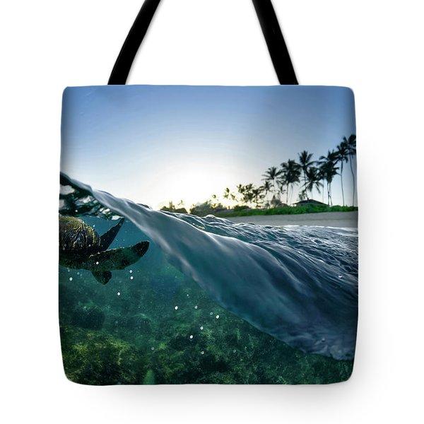 Turtle Split Tote Bag