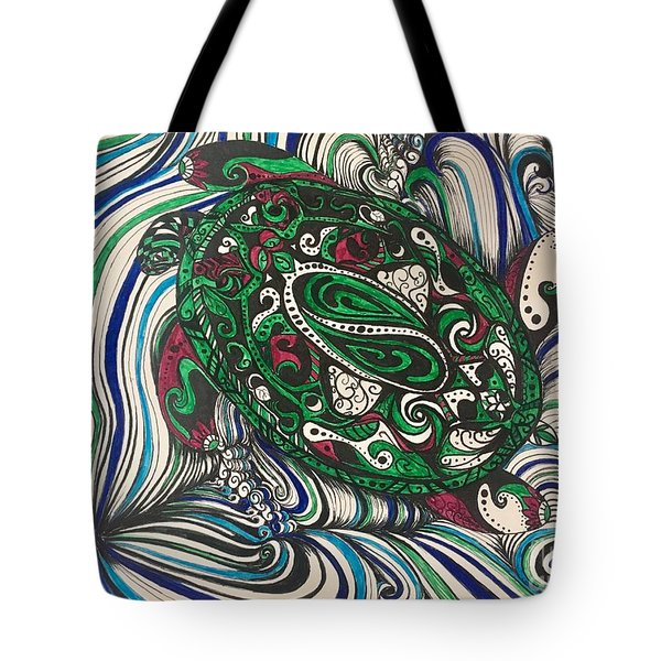 Turtle Time All Alone Tote Bag