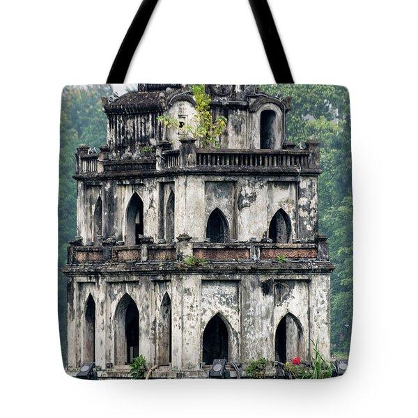 Turtle Tower Tote Bag