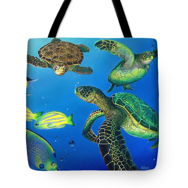 Turtle Towne Tote Bag by Angie Hamlin
