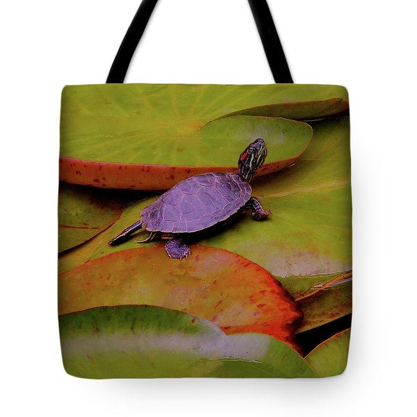 Turtle Travels Tote Bag