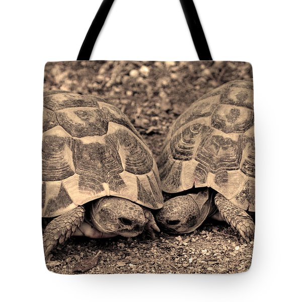 Turtles Pair Tote Bag by Gina Dsgn