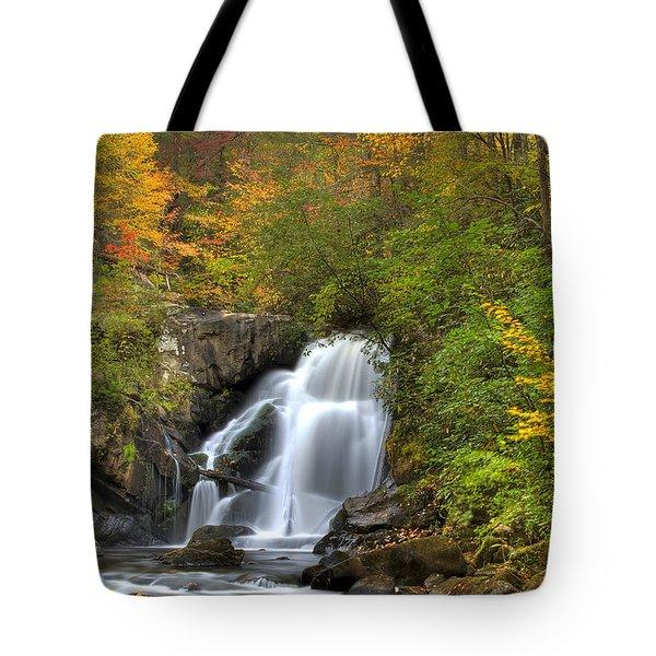 Turtletown Creek Falls Tote Bag by Debra and Dave Vanderlaan