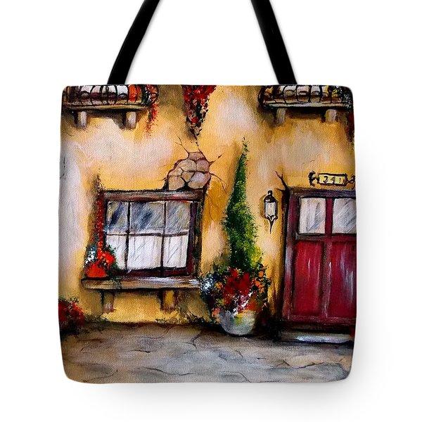 Tuscan 341 Red Door Tote Bag