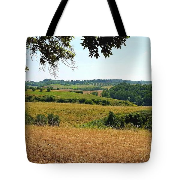 Tote Bag featuring the photograph Tuscan Country by Valentino Visentini