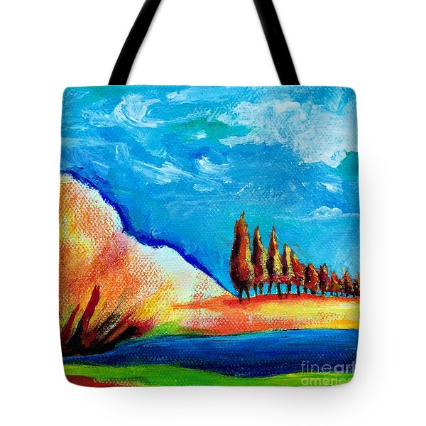 Tuscan Cypress Tote Bag by Elizabeth Fontaine-Barr