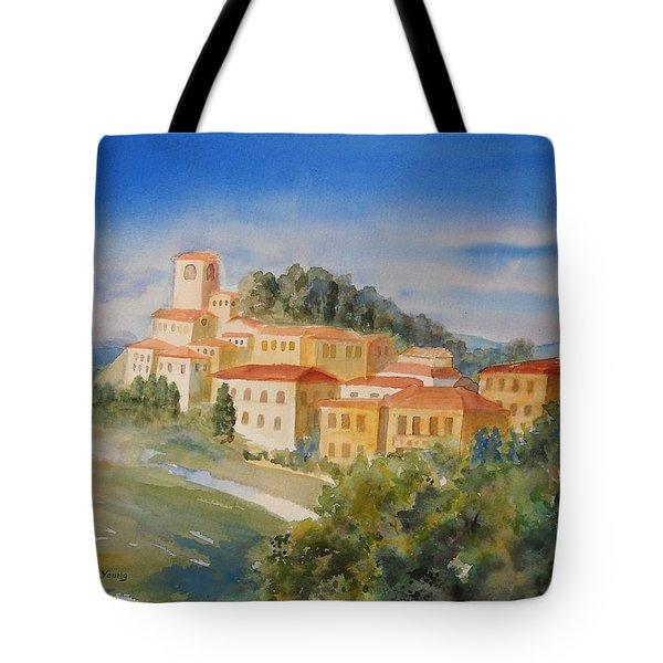 Tuscan Hilltop Village Tote Bag