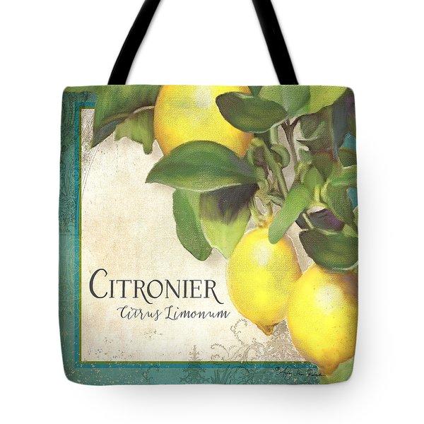 Tuscan Lemon Tree - Citronier Citrus Limonum Vintage Style Tote Bag