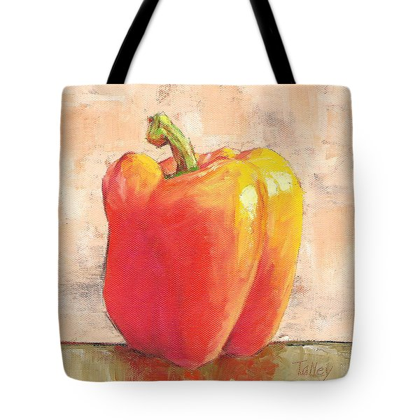 Tote Bag featuring the painting Tuscan Orange Pepper by Pam Talley