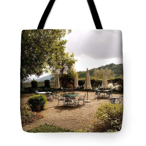 Tuscan Patio Tote Bag by Rae Tucker