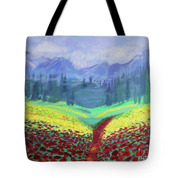 Tuscan Poppies Tote Bag